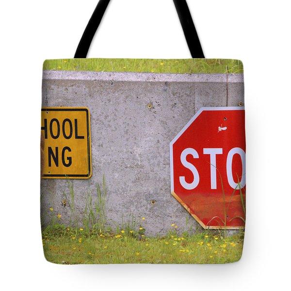 You Said Stop Tote Bag by Kym Backland