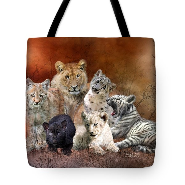 Young And Wild Tote Bag by Carol Cavalaris