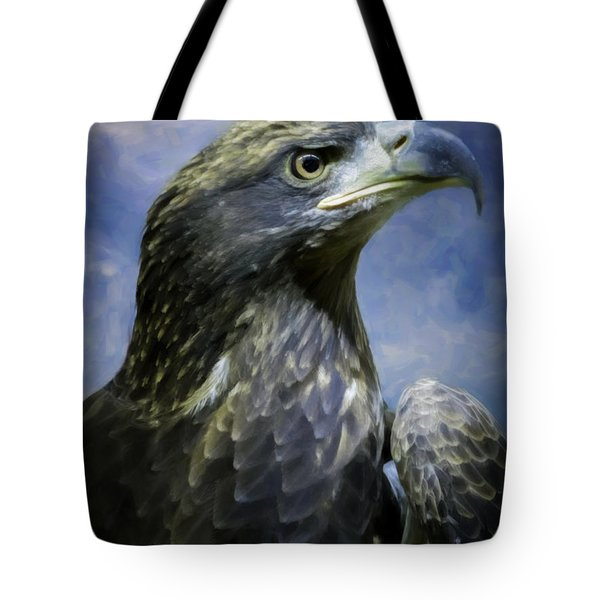 Young Bald Eagle V2 Tote Bag by F Leblanc