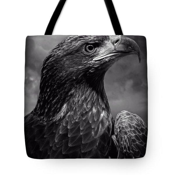Young Bald Eagle V4 Tote Bag by F Leblanc