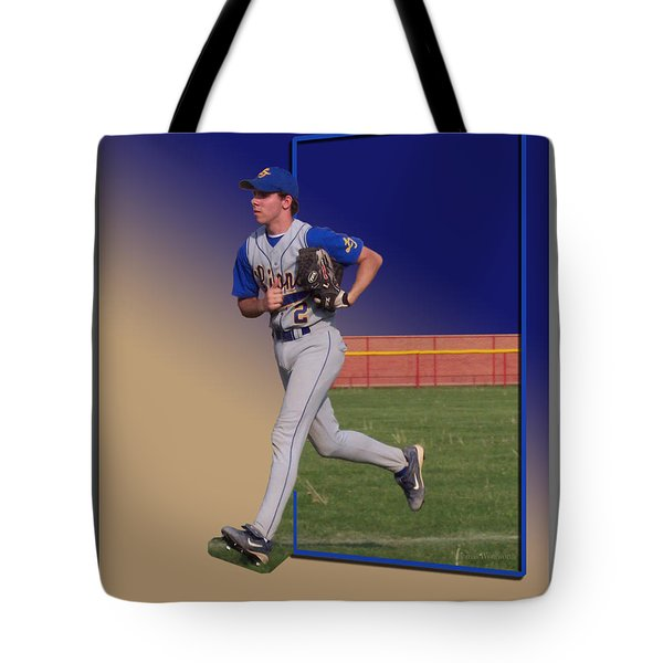 Young Baseball Athlete Tote Bag by Thomas Woolworth