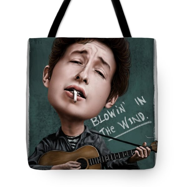 Young Bob Dylan Tote Bag by Andre Koekemoer