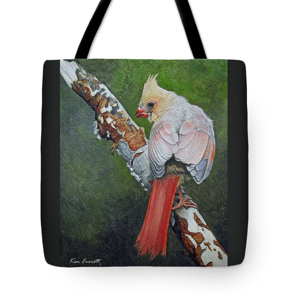Young Cardinal  Tote Bag by Ken Everett