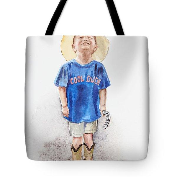 Young Cowboy  Tote Bag by Irina Sztukowski