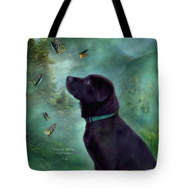 Young Lab And Buttys Tote Bag by Carol Cavalaris