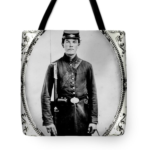 Young Union Soldier Tote Bag by American School