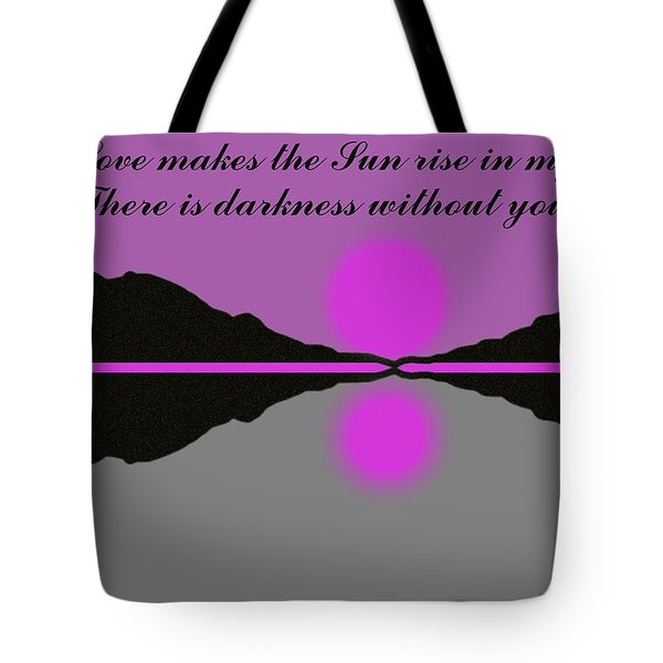 Your Love Tote Bag by George Pedro
