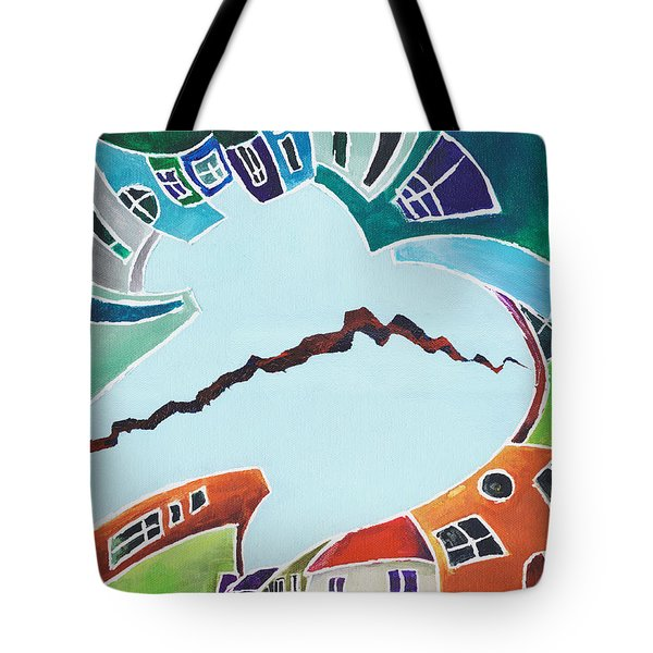 Your Reality Or Mine. Realities Vis-a-vis Or When A Rupture Matters Tote Bag by Elisabeta Hermann