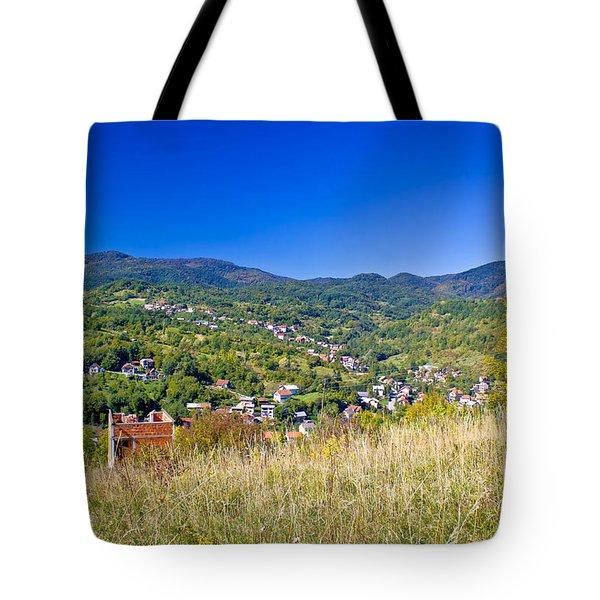 Zagreb hillside green zone nature Tote Bag by Dalibor Brlek