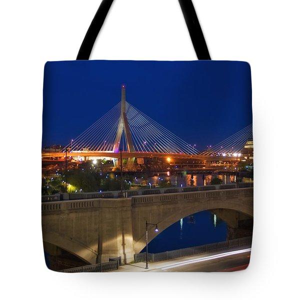 Zakim at Night 2 Tote Bag by Joann Vitali