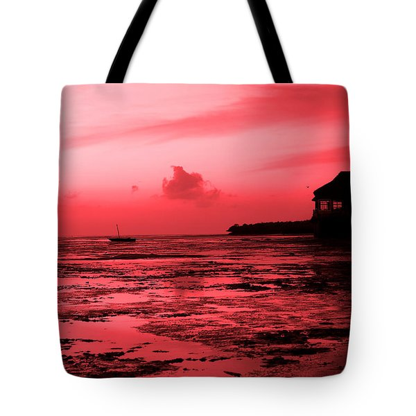 Zanzibar Sunrise Tote Bag by Aidan Moran