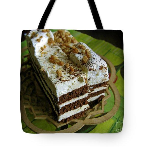 Zebra Cake Tote Bag by Ausra Paulauskaite