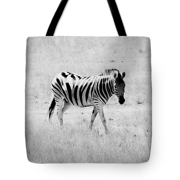 Zebra Explorer Tote Bag by Melanie Lankford Photography