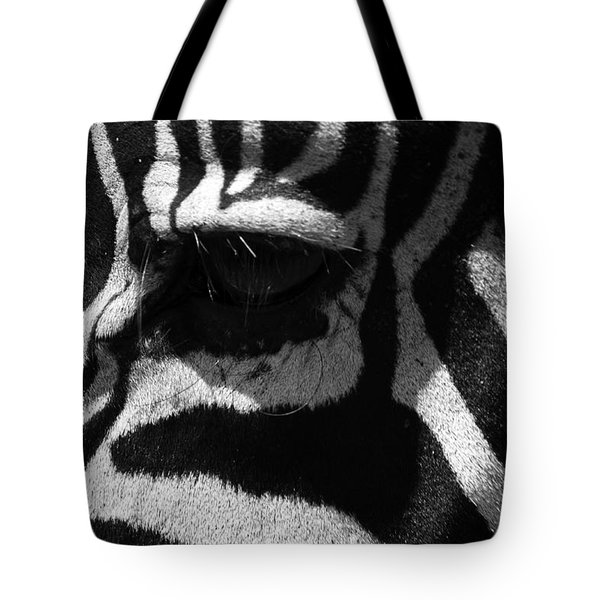 Zebra Eye Tote Bag by Aidan Moran