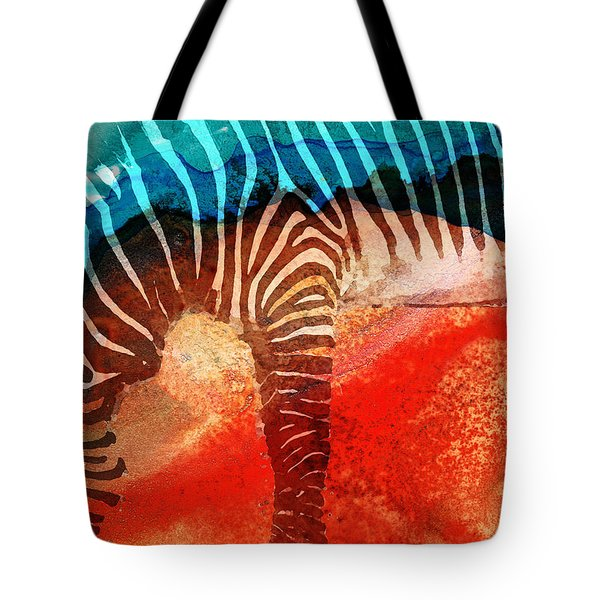 Zebra Love - Art By Sharon Cummings Tote Bag by Sharon Cummings