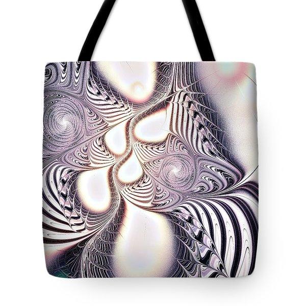 Zebra Phantasm Tote Bag by Anastasiya Malakhova