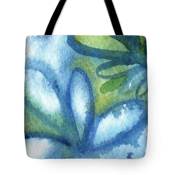 Zen Leaves Tote Bag by Linda Woods