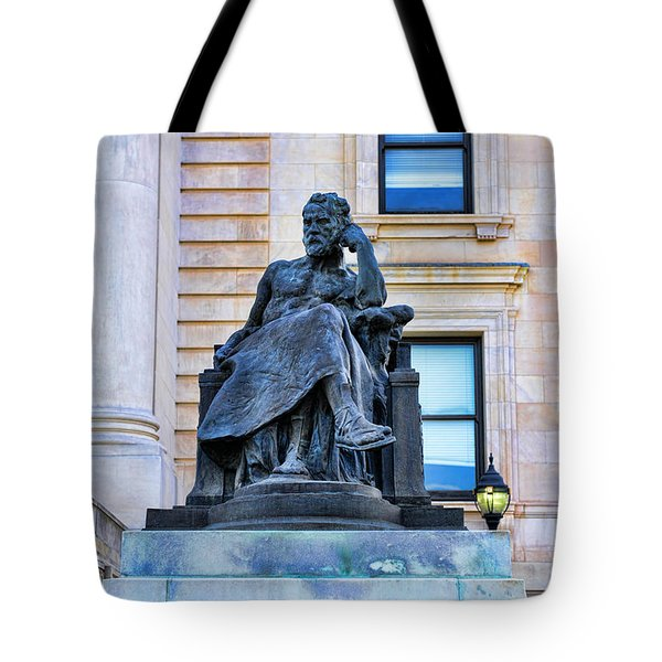 Zeus the King Tote Bag by Paul Ward