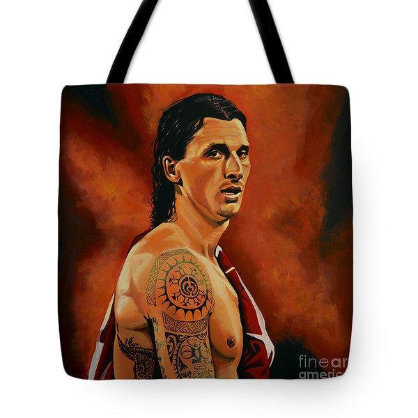 Zlatan Ibrahimovic Painting Tote Bag by Paul Meijering