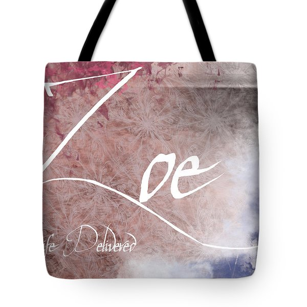 Zoe - Life Delivered Tote Bag by Christopher Gaston