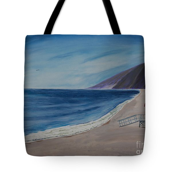 Zuma Lifeguard Tower #5 Tote Bag by Ian Donley