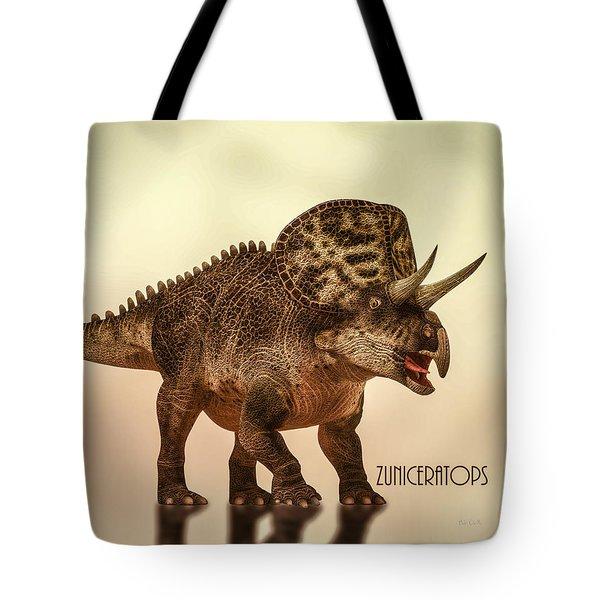 Zuniceratops Dinosaur Tote Bag by Bob Orsillo