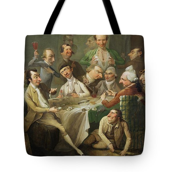 A Caricature Group Tote Bag by John Hamilton Mortimer