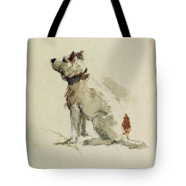 A Terrier - Sitting Facing Left Tote Bag by Peter de Wint