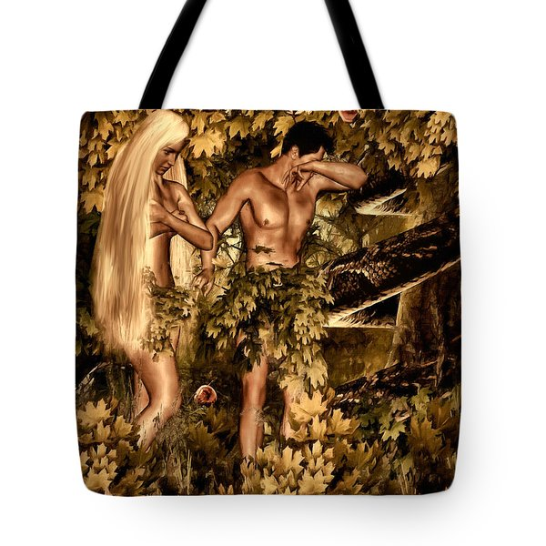 Birth Of Sin Tote Bag by Lourry Legarde