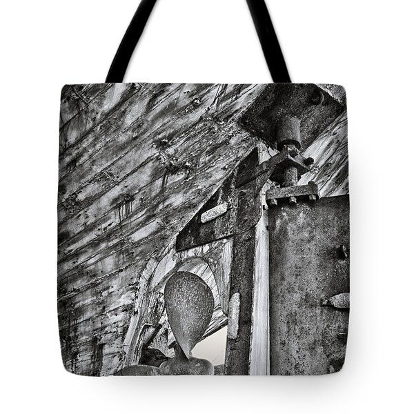 boat propeller Tote Bag by Stylianos Kleanthous
