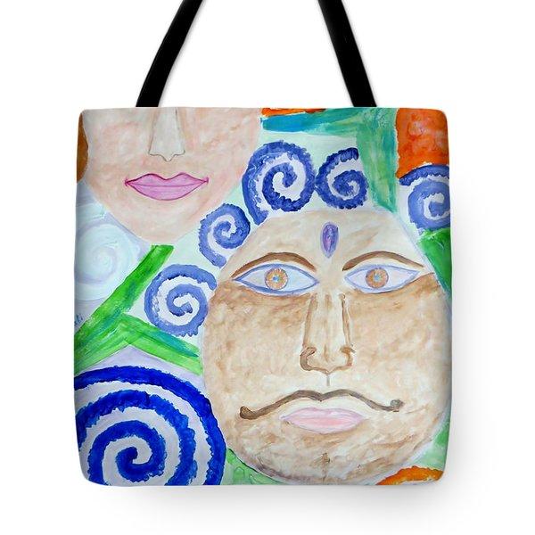 Faces Tote Bag by Sonali Gangane