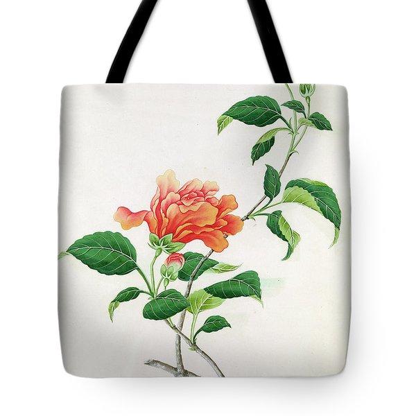 Hibiscus Tote Bag by Georg Dionysius Ehret