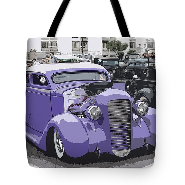 Hot Rod Purple Tote Bag by Steve McKinzie