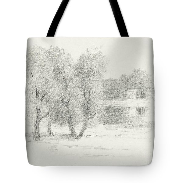 Landscape - Late 19th-early 20th Century Tote Bag by John Henry Twachtman