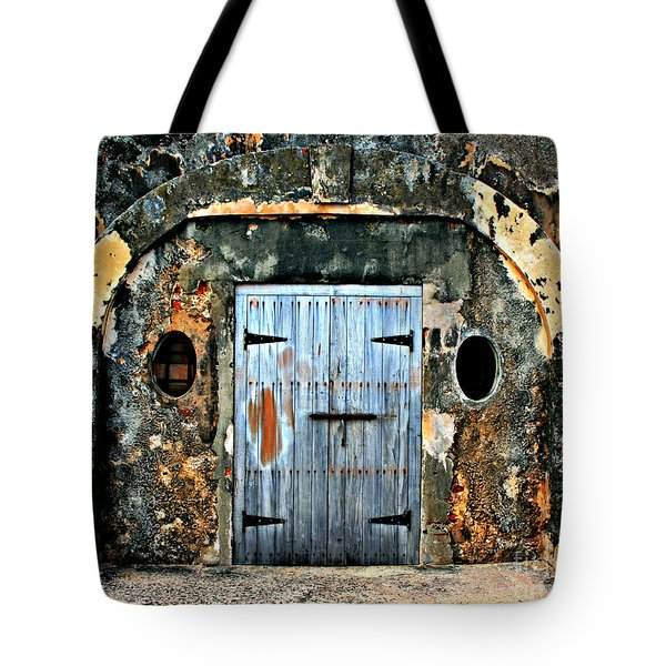 Old Wooden Doors Tote Bag by Perry Webster