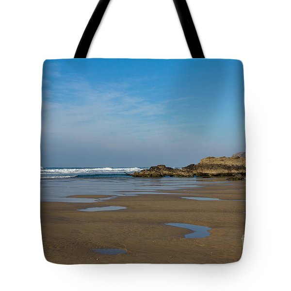 Porthtowan Cornwall Tote Bag by Brian Roscorla