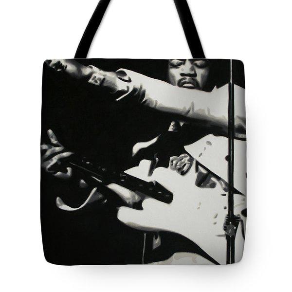 - Purple Haze - Tote Bag by Luis Ludzska