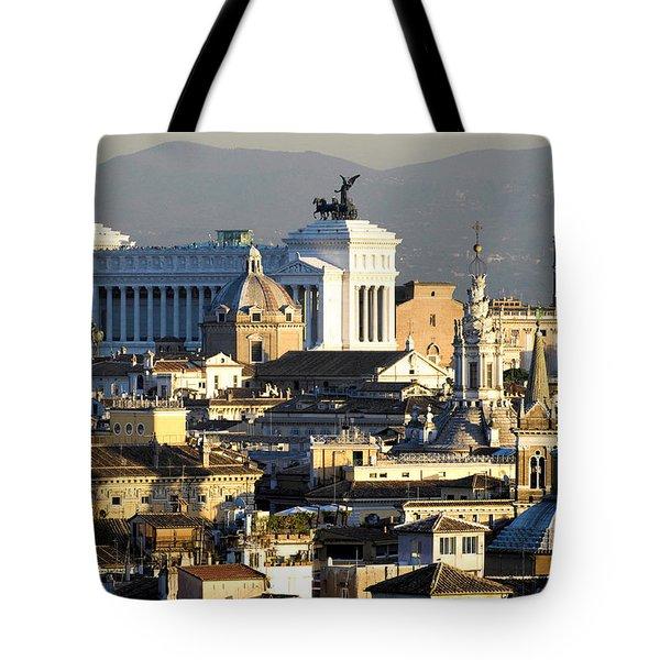 Rome's rooftops Tote Bag by Fabrizio Troiani