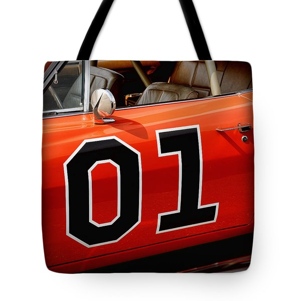 01 - The General Lee 1969 Dodge Charger Tote Bag by Gordon Dean II