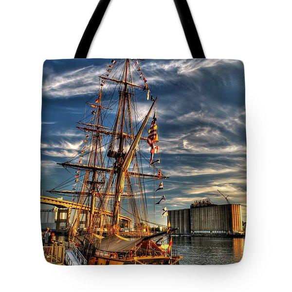 011 Uss Niagara 1813 Series Tote Bag by Michael Frank Jr