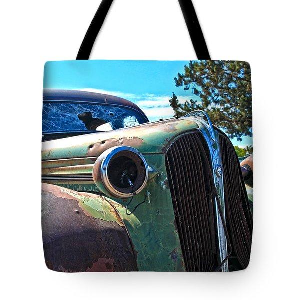 1937 Plymouth Tote Bag by Steve McKinzie