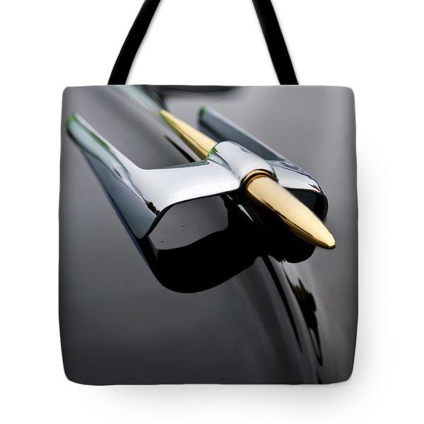 1953 Lincoln Capri Derham Coupe Hood Ornament  Tote Bag by Jill Reger