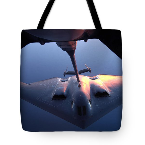 A B-2 Spirit Bomber Conducts Tote Bag by Stocktrek Images