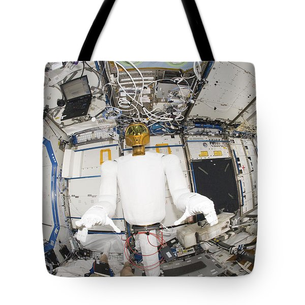 A Humanoid Robot In The Destiny Tote Bag by Stocktrek Images