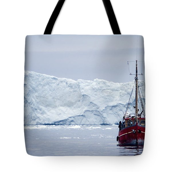 A Midnight Cruise Around The Ilulissat Tote Bag by Axiom Photographic