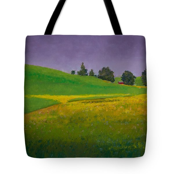 A Sliver of Canola Tote Bag by David Patterson