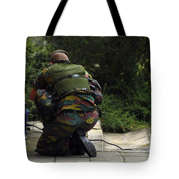 A Soldier Of The Belgian Army Tote Bag by Luc De Jaeger