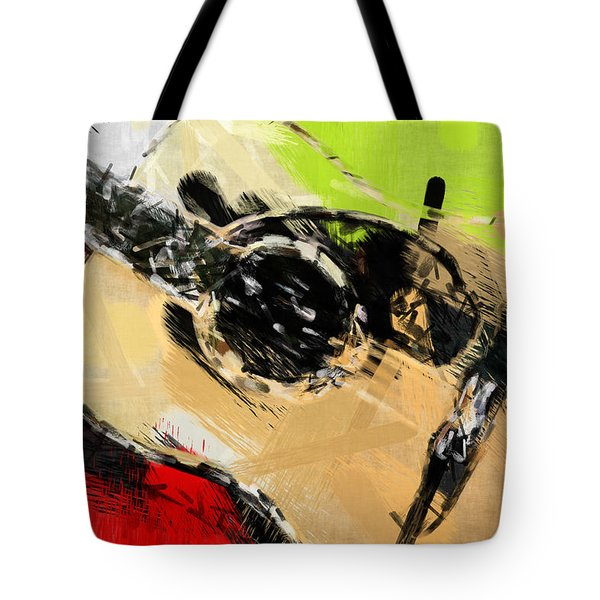 Abstract Acoustic Tote Bag by David G Paul