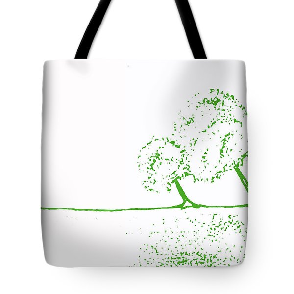 Abstract Tree Art By Shawna Erback Tote Bag by Shawna Erback