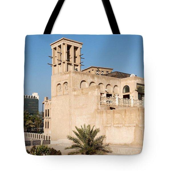 Al Bastakiya District Tote Bag by Fabrizio Troiani